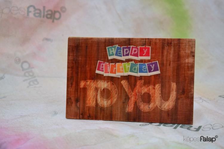 Születésnapi képesFalap - Felirat