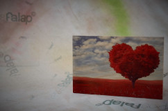 Szerelem képesFalap - Szív felhő