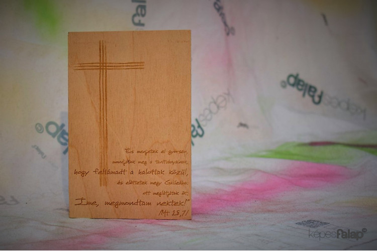 Üdvözlőkártya Egyedi tervezéssel - fekvő 13 x 18 cm